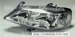 Фара передняя для Opel Astra G '98-09 правая (DEPO) электрич. хром 1216111