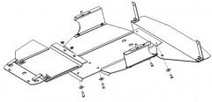 Кольчуга Защита двигателя и КПП, радиатора для Volvo 940 '91-98, V-2,3 (Кольчуга)