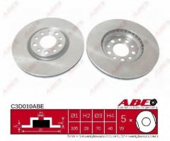 Комплект передних тормозных дисков ABE C3D010ABE (2 шт.)