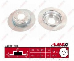 Комплект задних тормозных дисков ABE C44011ABE (2 шт.)