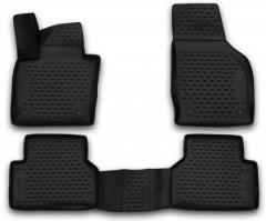 Коврики в салон 3D для Audi Q3 '11-, полиуретановые, черные (Novline)