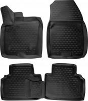 Коврики в салон для Ford Tourneo Courier '14-, полиуретановые, черные (Novline / Element) 3D