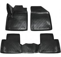 Коврики в салон для Jeep Cherokee '14 -, полиуретановые, черные (Novline / Element) 3D