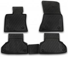 Коврики в салон для BMW X5 F15/X6 F16 '14-, полиуретановые, черные (Novline / Element)