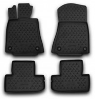 Коврики в салон для Lexus RC с 2014 полиуретановые, черные (Novline / Element)