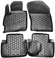 Коврики в салон для Mitsubishi Outlander '12-, полиуретановые, черные (Novline / Element)