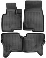 Коврики в салон для Mitsubishi Pajero Wagon 3 '00-07 полиуретановые, черные (Novline / Element)