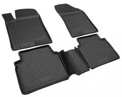Коврики в салон для Nissan Sentra '14-, полиуретановые, черные (Novline / Element)