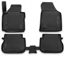 Коврики в салон для Volkswagen Caddy '16-, полиуретановые, черные (Novline / Element)