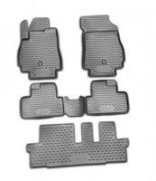 Коврики в салон для Chevrolet Orlando '11- полиуретановые, черные (Novline / Element) 1+2+3 ряд