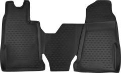 Коврики в салон для Ford Transit '06-13 полиуретановые, черные (Novline / Element)