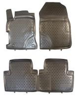 Коврики в салон для Honda Civic 5D '12- полиуретановые, черные (Novline / Element)