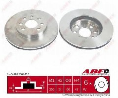 Комплект передних тормозных дисков ABE C30005ABE (2 шт.)