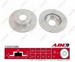 Комплект передних тормозных дисков ABE C30322ABE (2 шт.)