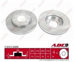 Комплект передних тормозных дисков ABE C30513ABE (2 шт.)