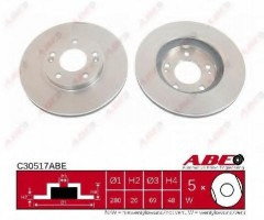 Комплект передних тормозных дисков ABE C30517ABE (2 шт.)