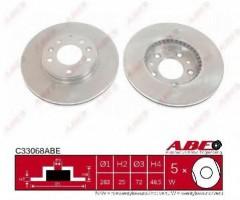 Комплект передних тормозных дисков ABE C33068ABE (2 шт.)