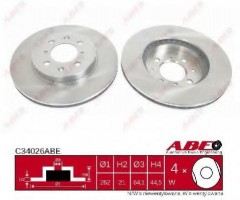Комплект передних тормозных дисков ABE C34026ABE (2 шт.)