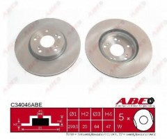 Комплект передних тормозных дисков ABE C34046ABE (2 шт.)