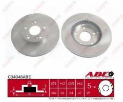 Комплект передних тормозных дисков ABE C34048ABE (2 шт.)