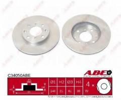 Комплект передних тормозных дисков ABE C34050ABE (2 шт.)