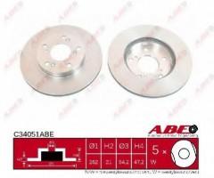 Комплект передних тормозных дисков ABE C34051ABE (2 шт.)
