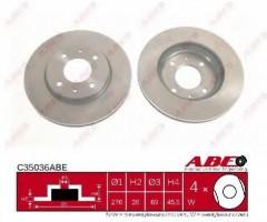 Фото 1 - Комплект передних тормозных дисков ABE C35036ABE (2 шт.)