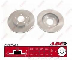 Комплект передних тормозных дисков ABE C35070ABE (2 шт.)
