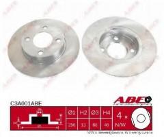 Комплект передних тормозных дисков ABE C3A001ABE (2 шт.)
