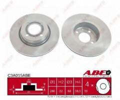 Комплект передних тормозных дисков ABE C3A015ABE (2 шт.)