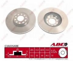 Комплект передних тормозных дисков ABE C3A026ABE (2 шт.)