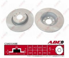 Комплект передних тормозных дисков ABE C3A031ABE (2 шт.)