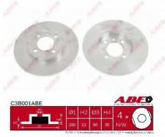 Комплект передних тормозных дисков ABE C3B001ABE (2 шт.)