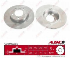 Комплект передних тормозных дисков ABE C3B003ABE (2 шт.)