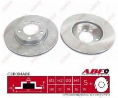 Комплект передних тормозных дисков ABE C3B004ABE (2 шт.)