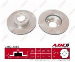 Комплект передних тормозных дисков ABE C3B014ABE (2 шт.)
