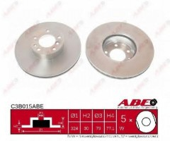 Комплект передних тормозных дисков ABE C3B015ABE (2 шт.)