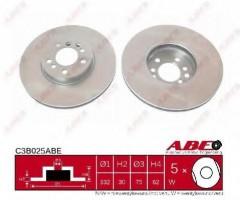 Комплект передних тормозных дисков ABE C3B025ABE (2 шт.)