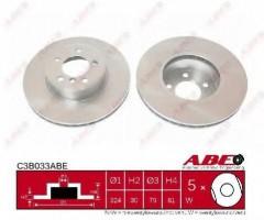 Комплект передних тормозных дисков ABE C3B033ABE (2 шт.)