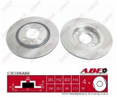 Комплект передних тормозных дисков ABE C3C006ABE (2 шт.)