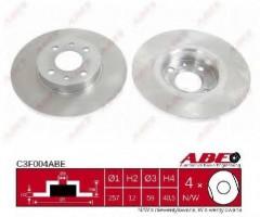Комплект передних тормозных дисков ABE C3F004ABE (2 шт.)