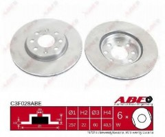 Комплект передних тормозных дисков ABE C3F028ABE (2 шт.)