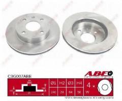 Комплект передних тормозных дисков ABE C3G007ABE (2 шт.)