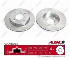 Комплект передних тормозных дисков ABE C3G010ABE (2 шт.)