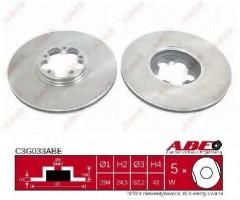 Комплект передних тормозных дисков ABE C3G033ABE (2 шт.)