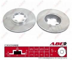 Комплект передних тормозных дисков ABE C3G034ABE (2 шт.)