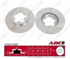 Комплект передних тормозных дисков ABE C3G037ABE (2 шт.)