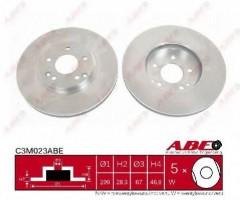 Комплект передних тормозных дисков ABE C3M023ABE (2 шт.)