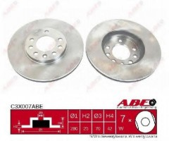 Комплект передних тормозных дисков ABE C3X007ABE (2 шт.)