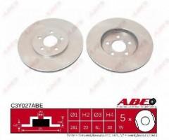 Комплект передних тормозных дисков ABE C3Y027ABE (2 шт.)
